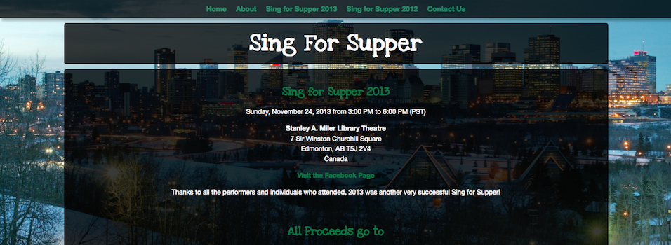 Sing For Supper
