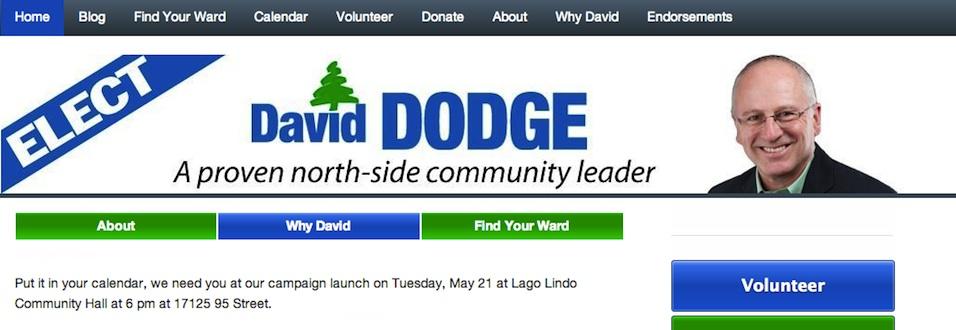 David Dodge's Campaign Website 2013