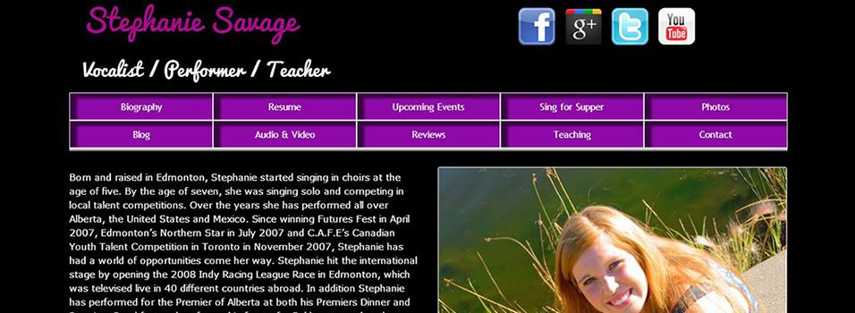 Stephanie Savage - Vocalist / Performer / Teacher