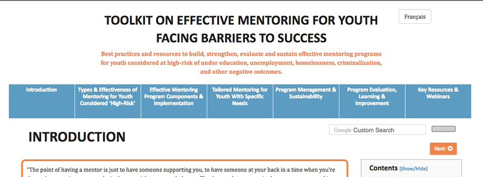Mentoring for Youth Facing Barriers to Success